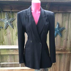 😍Jones New York Black Pin Stripe Jacket 4